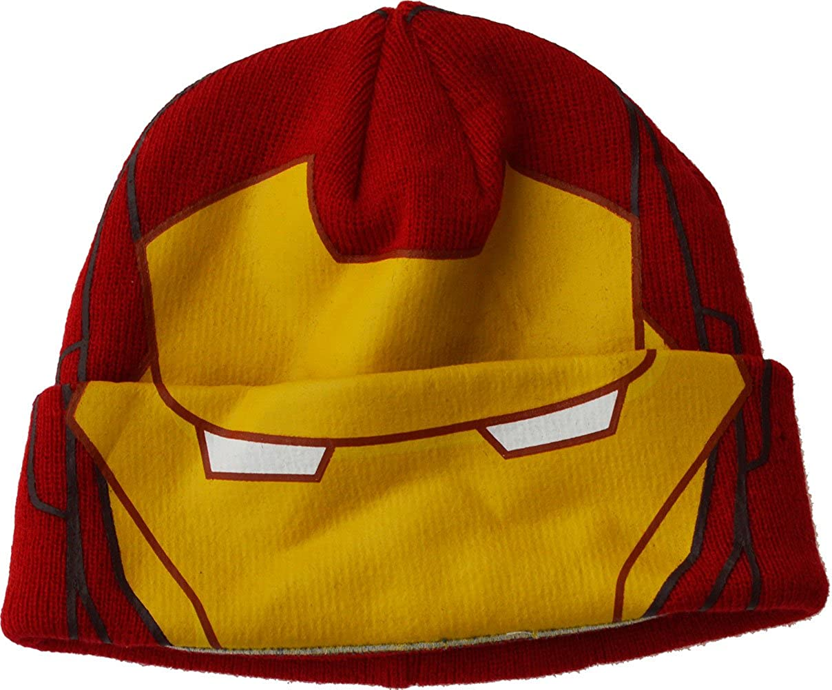 Boys - Marvel Iron Man Beanie Novelty Fancy Dress Winter Hat