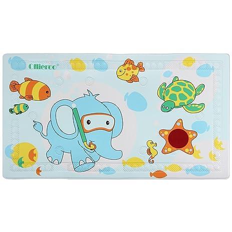 bathtub cartoon. Ollieroo Bath Mat For Tub Kids PVC Cartoon No slip Bathtub Shower  with Temperature Amazon com