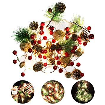 Weihnachtsbeleuchtung Tannenzapfen.Weihnachtsbeleuchtung Weihnachtsdeko Lichter Tannenzapfen Lichterkette Girlande Kupfer Cone Cone Pine String Lichter Für Weihnachtsbaum Und Home