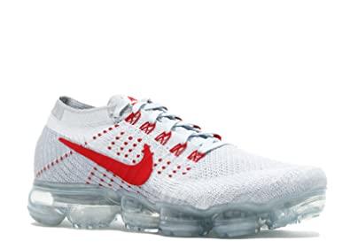 the latest e0c56 26bab BestVIPJ Unisex Air Vapormax Flyknit Pure Platinum University Red Chaussures  de Running Homme Femme