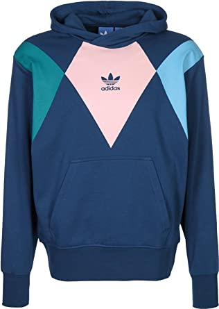 adidas originali uomini 'retro' tennie felpa blu l:
