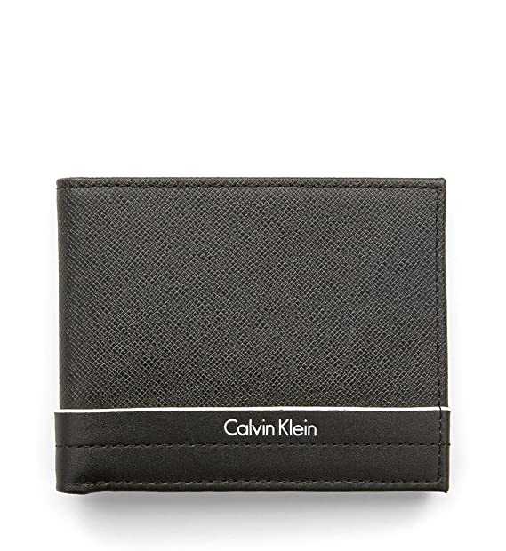 Calvin Klein - Cartera para Hombre Negro Negro Talla única: Amazon.es: Equipaje
