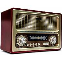 Radio Antigo Multifuncional Portátil Retro Am Fm Usb gravador