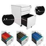 DEVAISE XSFC01W File Cabinet, White
