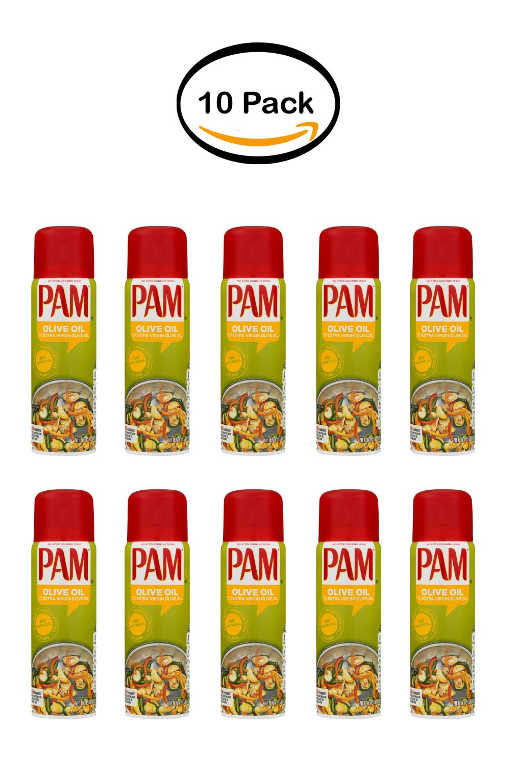 PACK OF 10 - PAM Olive Oil Cooking Spray, 5 Ounce