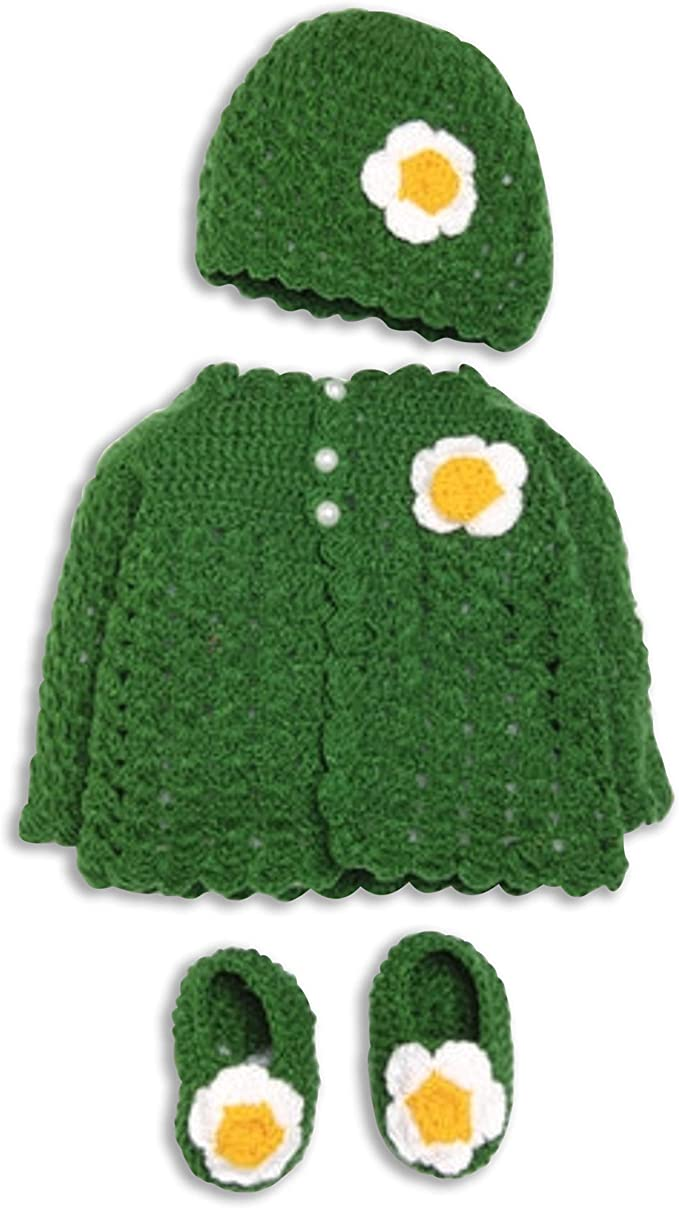 Crochet Unisex Mixed Green Dinosaur Sweater Adult Small In Multiple Colors Available Available in sizes Newborn