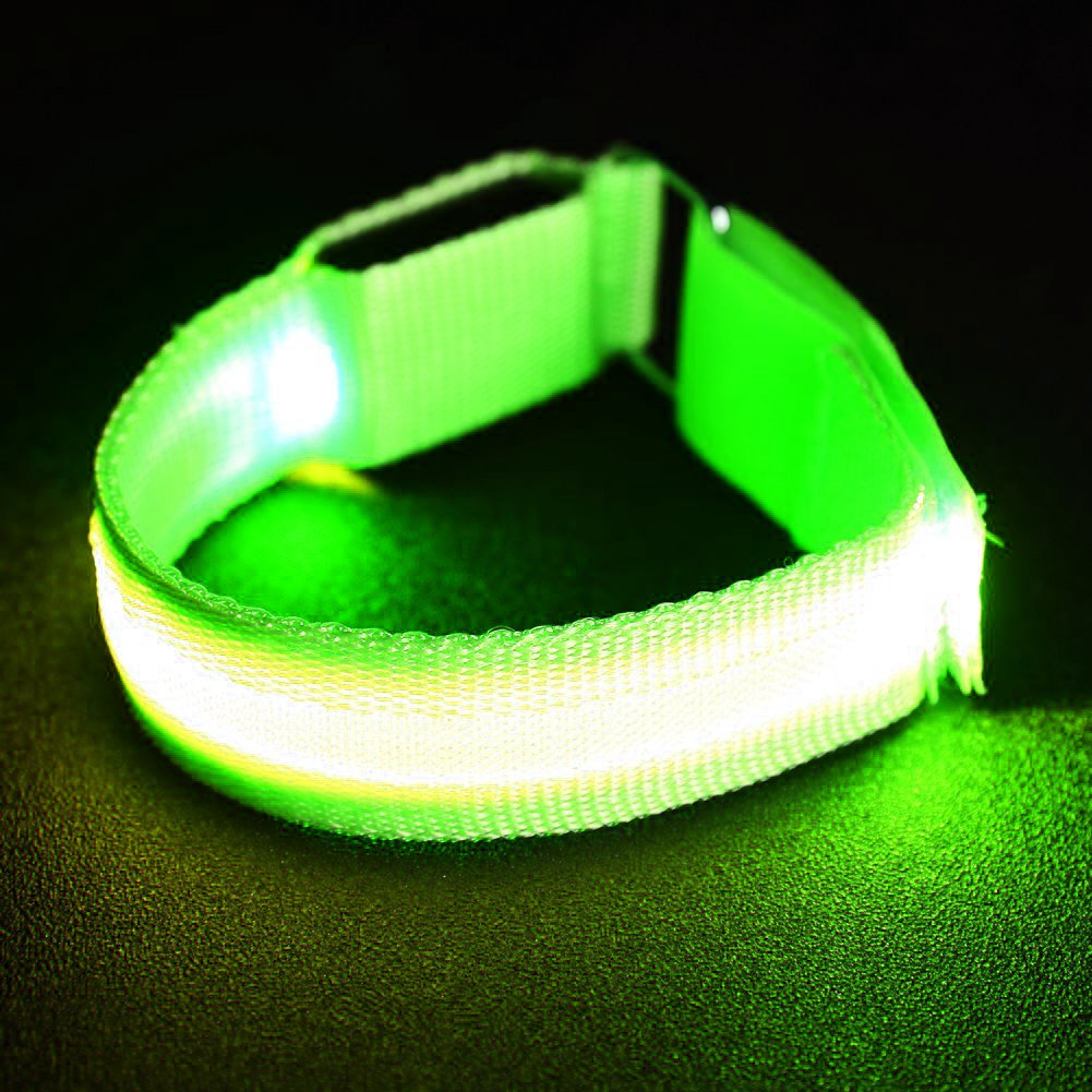 Kekilo Leuchten Armband,Nacht Sicherheit Armband für Lauf Walking Radfahren Konzert Camping Outdoor Sports,USB Wiederaufladbare & Einstellbar,Passt Frauen,Männer&Kinder