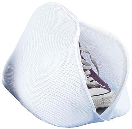 Wenko Saco Lavadora para Zapatos, Poliéster, Blanco, 23x40x23 cm