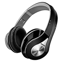 Mpow Bluetooth Headphones Over Ear, Hi-Fi Stereo Wireless Headset, Foldable, Soft Memory-Protein Earmuffs, Built-in Mic and Wired Mode for PC/Cell Phones/TV - Gray (Delicate Carrying Case Included)