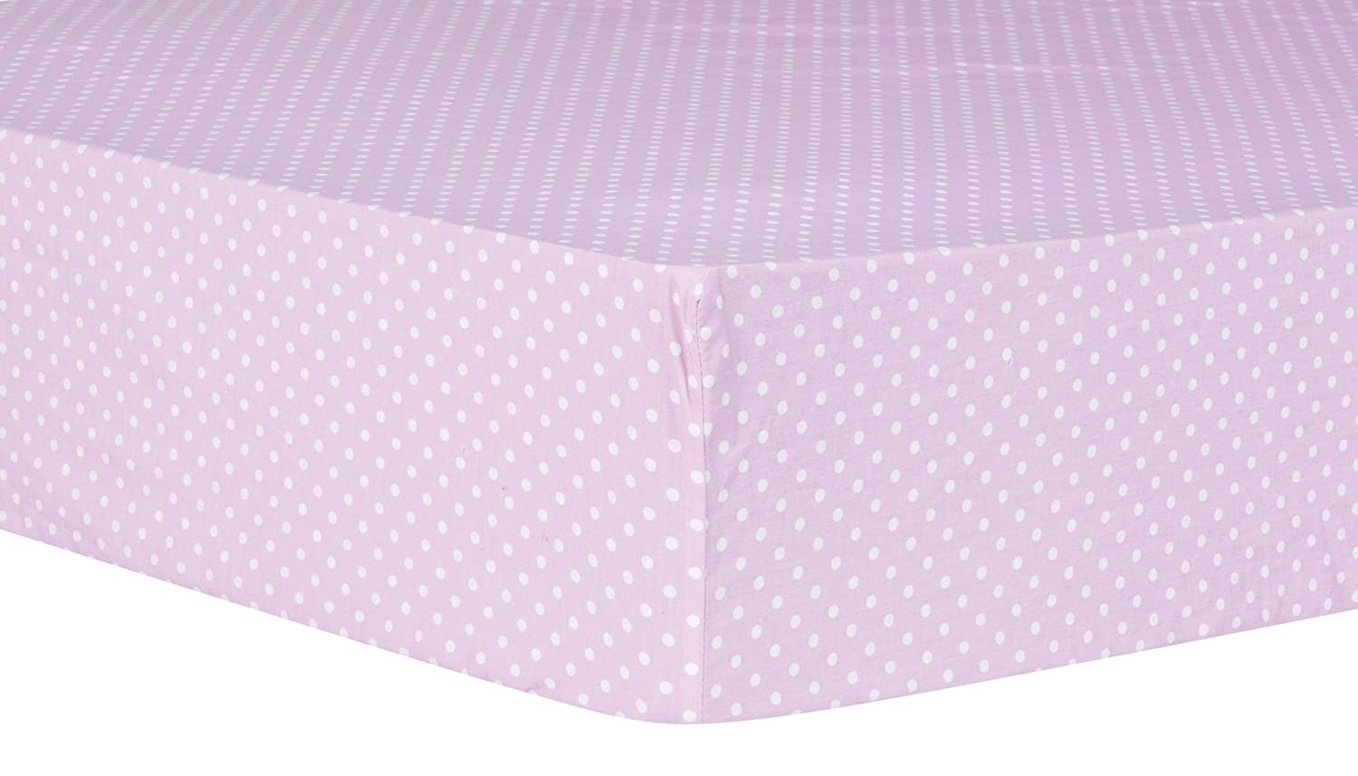 Purple Trend Lab Orchid Bloom Dot Fitted Crib Sheet