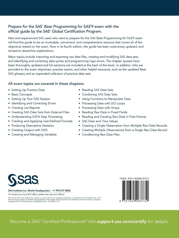 Sas Certification Prep Guide Base Programming For Sas9 Fourth