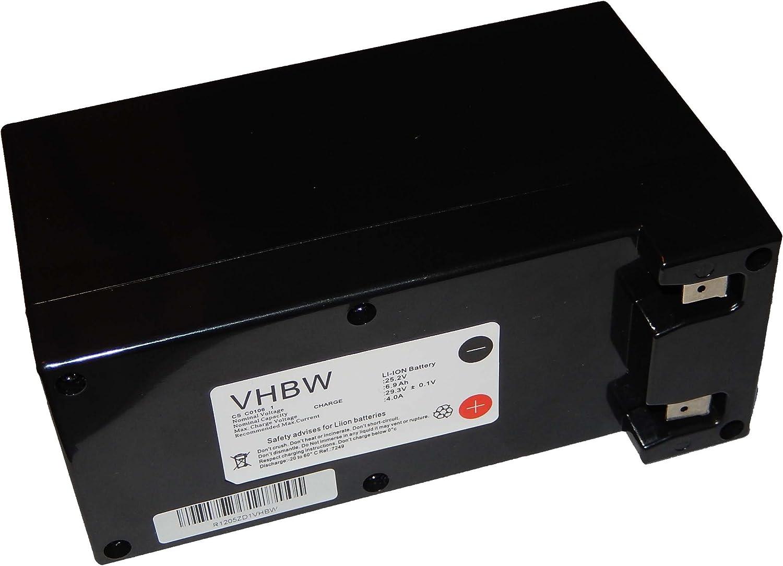 vhbw Batería Li-Ion 6900mAh (25.2V) para Robot cortacésped Lawnbott Lb1500 SpyderEVO reemplaza Zucchetti CS-C0106-1.