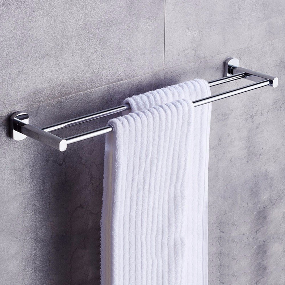 Yomiokla Bathroom Accessories - Kitchen, Toilet, Balcony and Bathroom Metal Towel Ring Suction Power Single Lever Towel White