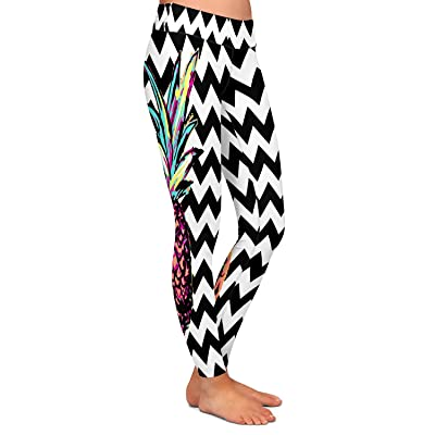 Athletic Yoga Leggings From DiaNoche Organic Saturation Party Pineapple Chevron