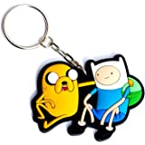 Blue with Jake and Finn Adventure Time Lanyard Keychain Holder