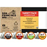 SF Bay Coffee OneCUP Variety Pack 80 Ct Compostable Coffee Pods, K Cup Compatible including Keurig 2.0 (Packaging May Vary)