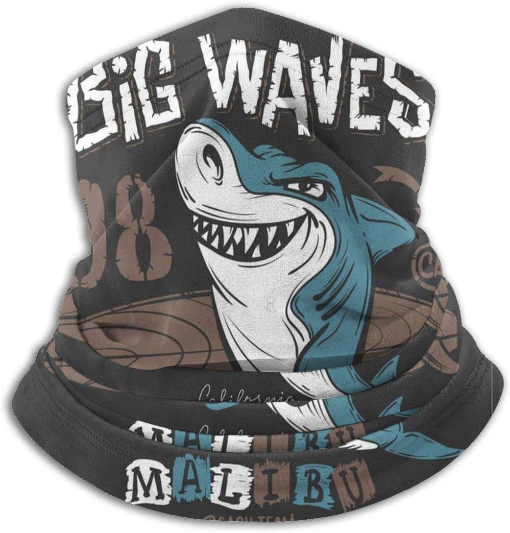 N A Halstuch,Gesichtsbedeckung,Stirnband,Halsw/ärmer,Surf Shark Neck Gaiter Warmer L/ässiges Ohrw/ärmer-Stirnband F/ür Unisex Black