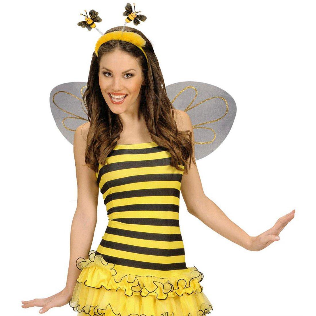 Haarreif Biene Fuhler Kopfschmuck Bienenkostum Haarreifen Karneval