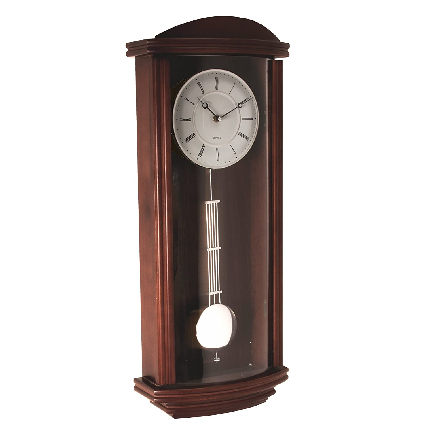 large deluxe rectangular wooden pendulum wall clock  glass front  - large deluxe rectangular wooden pendulum wall clock  glass frontamazoncouk kitchen  home