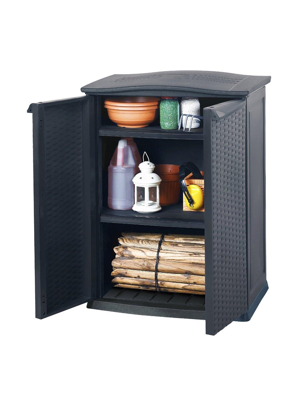 Keter - Cobertizo mini, 2 estantes ajustables, carga por estante 20 kg, product