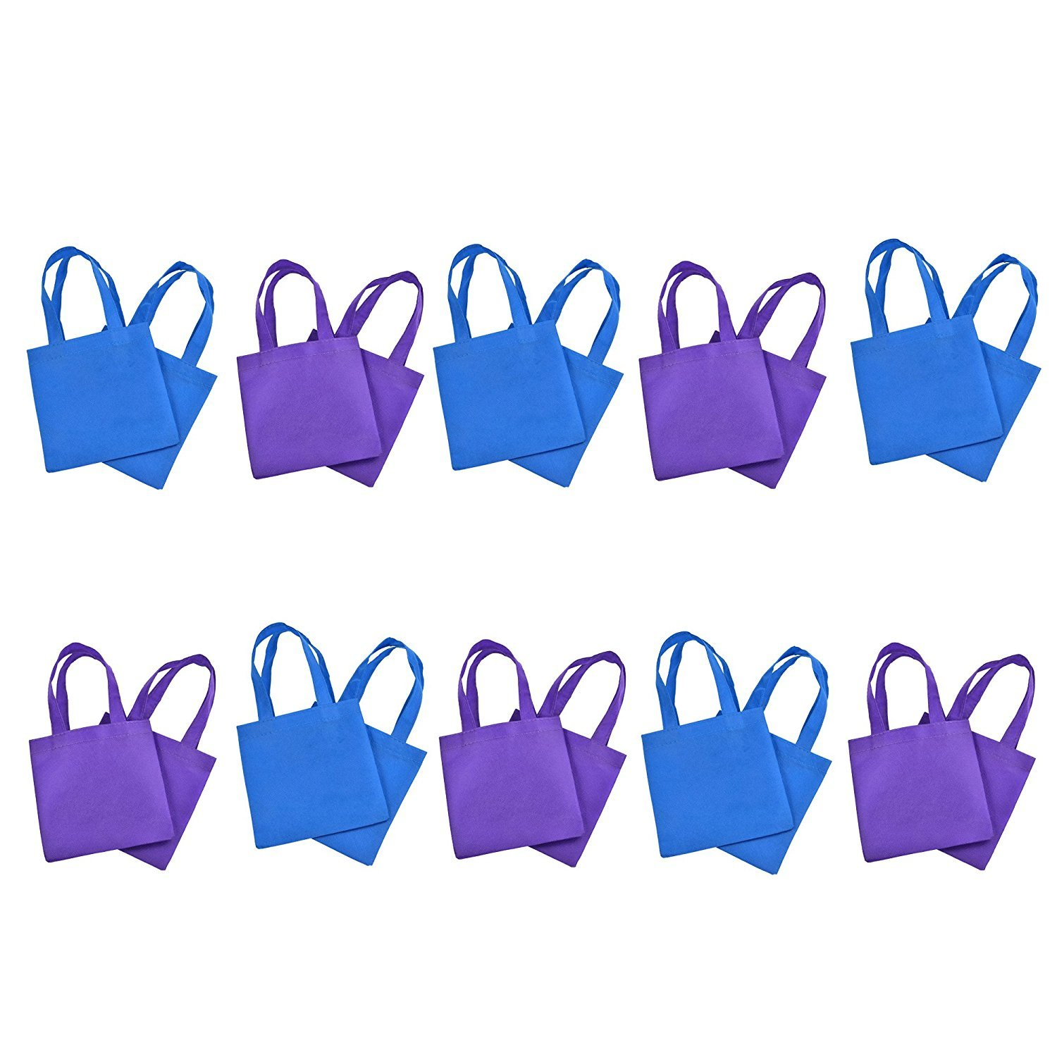 BCP 9-inch 20pcs Small不織布再利用可能なKids Carrying /ショッピング/ Grocery Tote Bag for Wedding Favor /ギフト/パーティー B00WHSVG5G