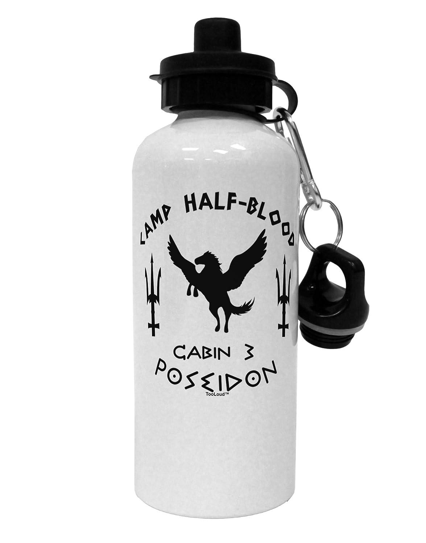 White TOOLOUD Cabin 3 Poseidon Camp Half Blood Aluminum 600ml Water Bottle
