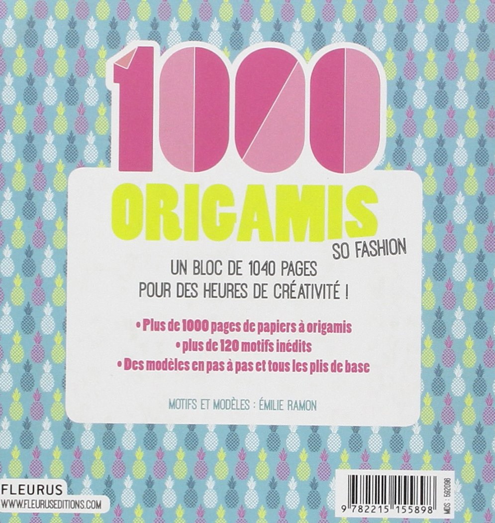 Amazon.fr - 1 000 origamis so fashion : Des modèles et tous les plis de base  - Emilie Ramon - Livres