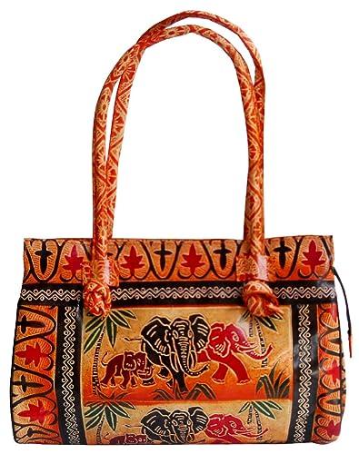 351e19bc81 Jungle Elephants Design Ethnic Hand Embossed Shantiniketan Leather ...