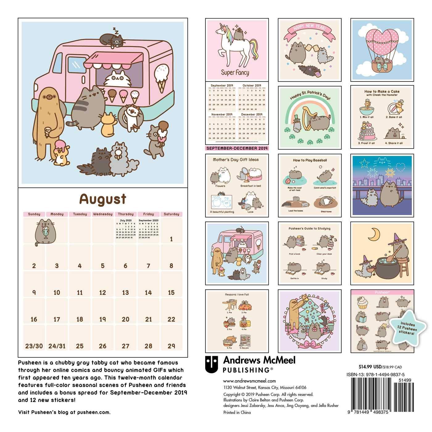 Pusheen 2020 Wall Calendar: Amazon.es: Claire Belton: Libros ...