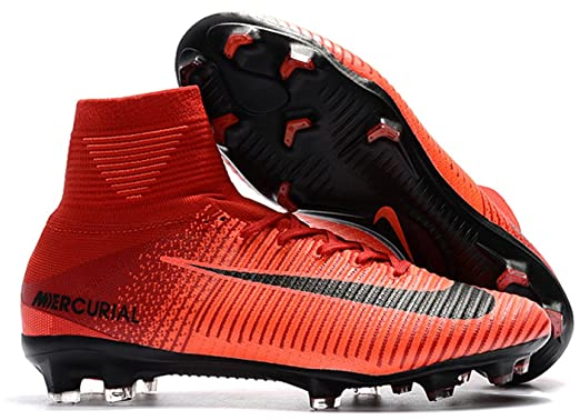 9edec8026ba7 Nike Mercurial Superfly V FG High Ankle Men s Soccer Cleats Red - Red ...
