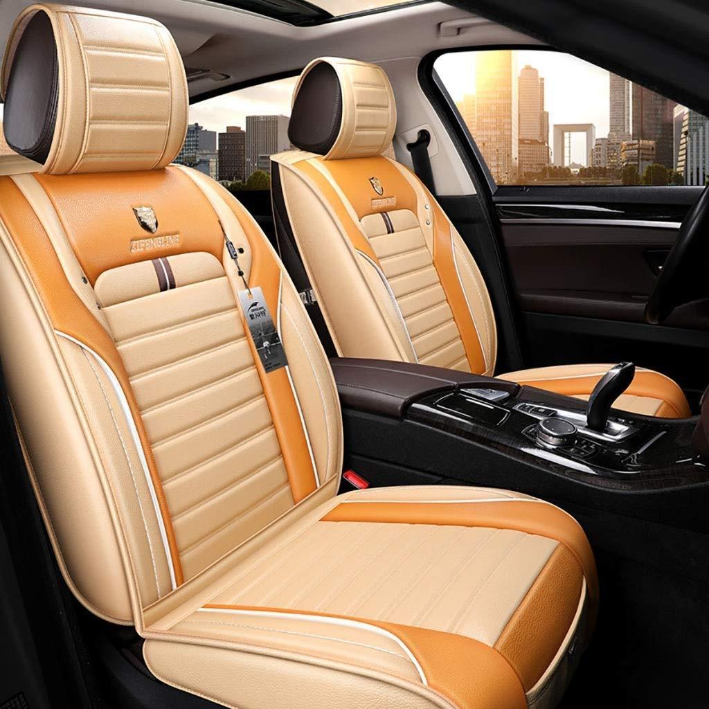 チャイルドシートカバーセット、ユニバーサルチャイルドシートクッションフロントリア5座席スポーツスタイルアドバンスドレザーシーズンズパッドシートプロテクター(カラー:オレンジ)  Orange B07T4LMYZM