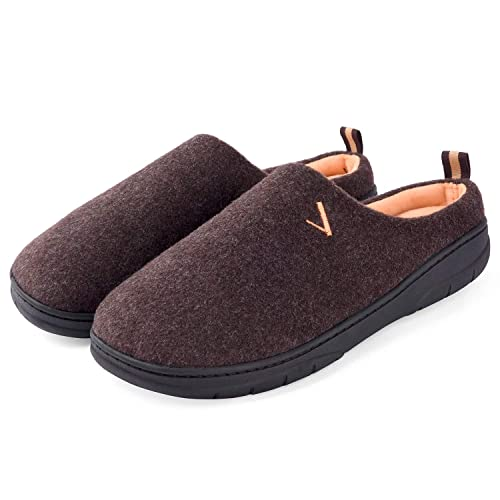 75e4a11b148 Indoor Outdoor Memory Foam Slipper Two-Tone House Shoes Closed Back  Anti-Skid Rubber