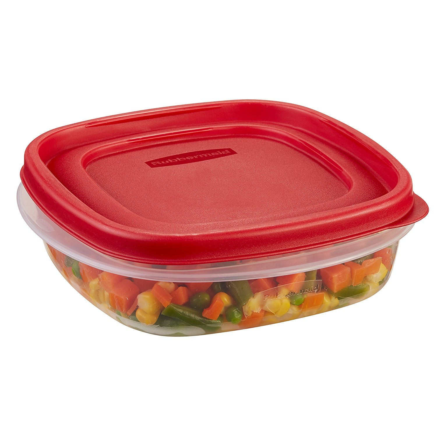 Rubbermaid 711717427300 Easy Find Lids Square 3-Cup Food Storage Container (Pack of 6), 6 Pack, Clear