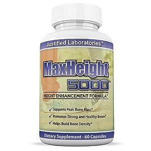 MaxHeight 5000 Height Enhancement Bone Growth Formula 60 Capsules 1 Bottle