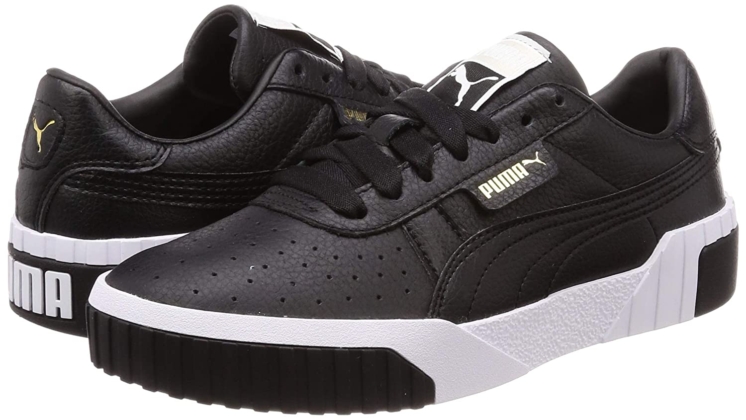 Amazon.com | PUMA Cali Womens Black/White Sneakers-UK 7 | Fashion Sneakers
