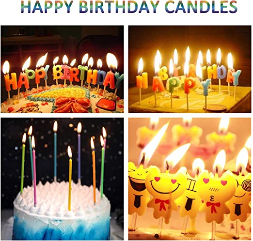 Wondrous Amazon Com Wanj 28 Pcs Birthday Cake Candles Incl Emoji Birthday Birthday Cards Printable Benkemecafe Filternl