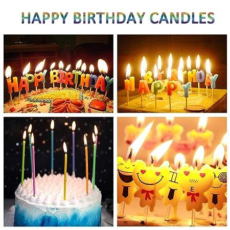 WanJ Velas de cumpleaños, 40 unidades de velas para tartas ...