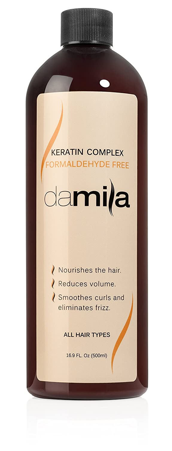 Keratin Complex Hair Treatment - Anti Frizz Acts as a Hair Straightener, Conditions and Repairs - Formaldehyde Free Keratin Complex - Professional or Home Keratin Treatment