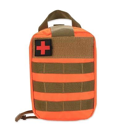 Asixx Bolsa de Primeros Auxilios de Supervivencia al Aire Libre, Bolsa Botiquín de Primeros Auxilios, para Acampar, Hogar,Caza