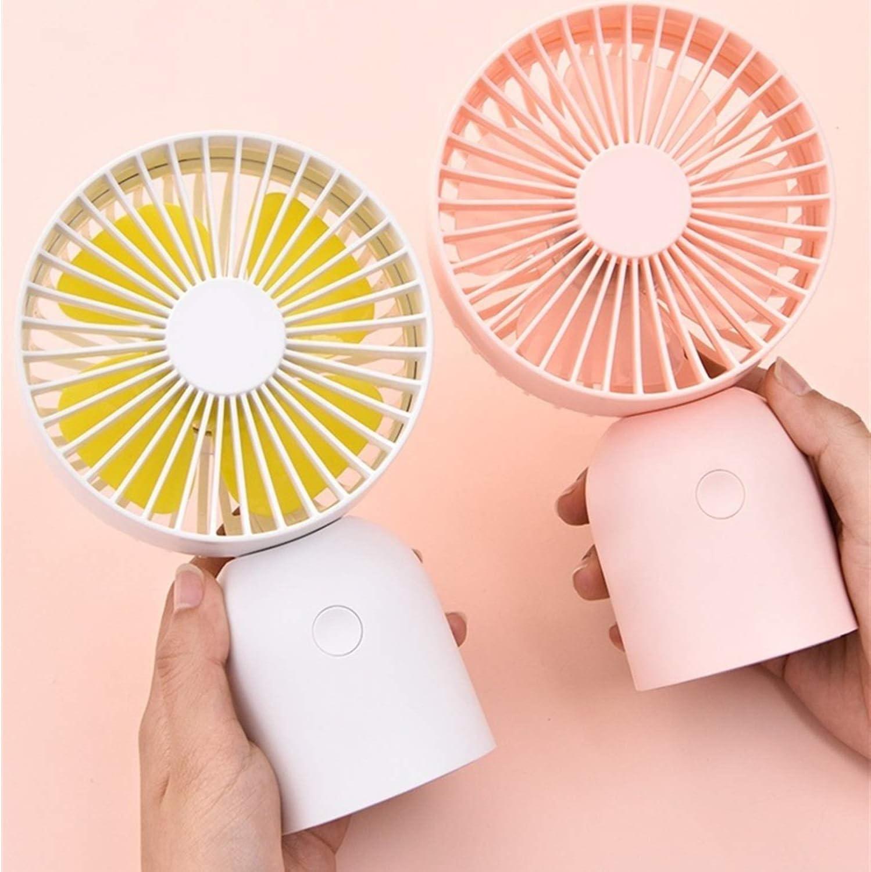 Color : White XIAOF-FEN Mini Portable Round Fan USB Handheld Electric Fan 3 Gear Wind Removable Fan Cover USB Fan