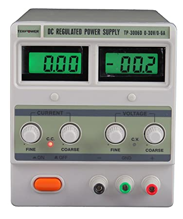 Amazon.com: Tekpower DC Regulated Variable Power Supply, 0-30V & 0 ...