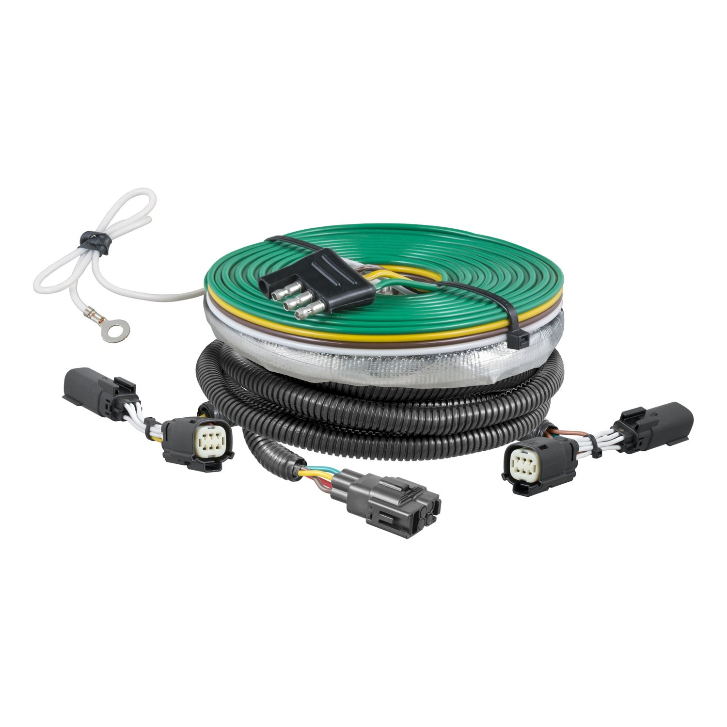 CURT 58941 Custom Towed-Vehicle RV Wiring Harness for Dinghy Towing Select Ford Flex