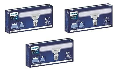 Philips T bulb 12 Watt LED bulb, Base B22 (Crystal White, Pack of 3)