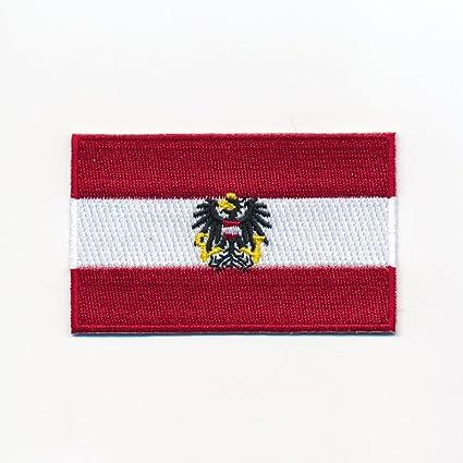 60 X 35 Mm Österreich Flagge Adler Austria Flag Wien Aufnäher Aufbügler 0949 B Auto