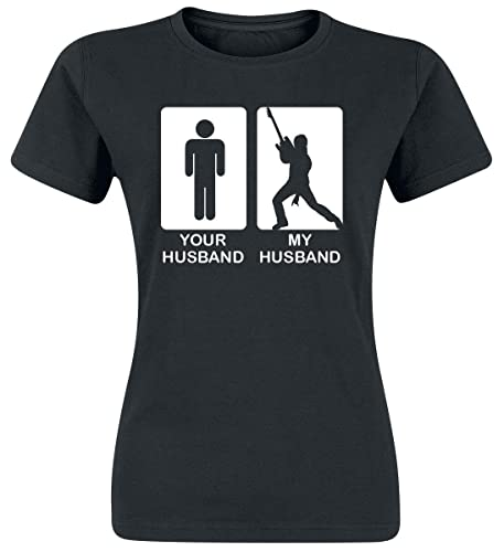 Your Husband My Husband Camiseta Mujer Negro M