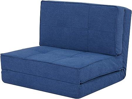 bleu tissu fauteuil convertible chauffeuse convertible