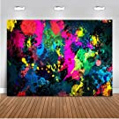 Mehofoto Neon Graffiti Backdrop Neon Glowing Party Background 7x5ft Vinyl Graffiti Painting Abstract Backdrops Banner Supplies Decoration