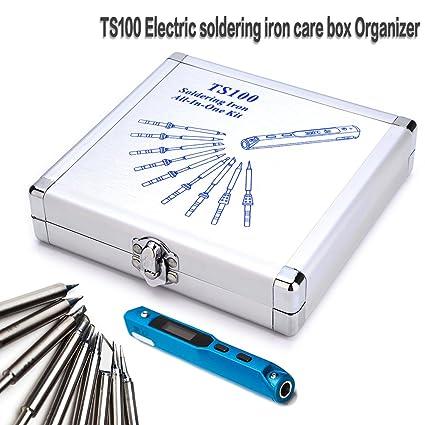 favourall TS100 Soldador Eléctrico Dedicated aluminio Care Caja Organizador/Cuidado Caja Organizador 12pcs