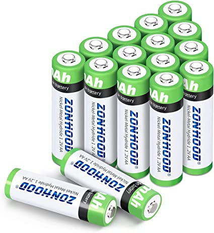 Amazon Com Aa Rechargeable Batteries Aa Batteries 2800mah High Capacity Aa Batteries Rechargeable Aabatteries 1 2v Ni Mh Low Self Discharge 16pack Home Audio Theater