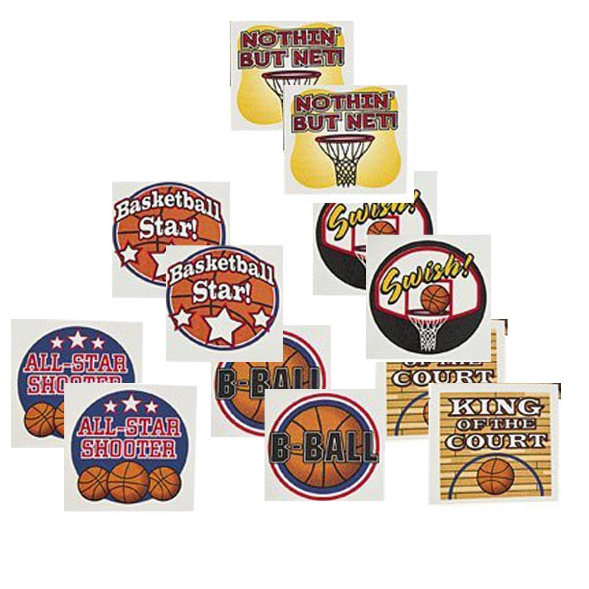 Fun Express Temporary Basketball Tattoos (12 Dozen)